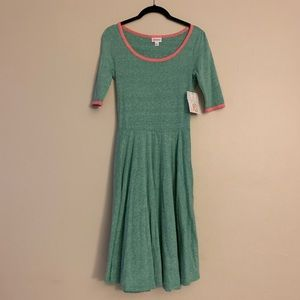 Lularoe Nicole style pink and green dress